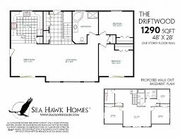 walk out basement floor plans bungalow floor plan with elevation fresh walkout basement floor