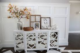 entrance table and mirror mirrored console table ready for fall the sunny side up blog