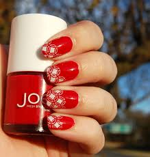 red design nails images nail art designs