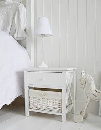 Small White Bedside Table Small White Bedside Cabinet Two Drawer White Bedside Table