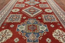 Red Turquoise Rug New Hand Knotted Wool 11x15 Red Super Kazak Palace Size Oriental