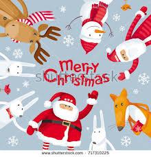 vector greeting card santa claus stock vector 713963530