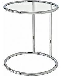 design glastisch design beistelltisch effect 50 70 cm chrom glas höhenverstellbar
