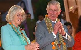 on tour in india charles and camilla partake in hindu sunset ceremony