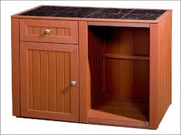 furniture brown polished wooden kitchen storage cabinets with