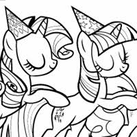 coloring party interest mlp