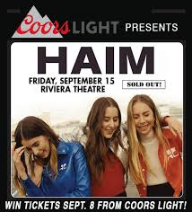 haim poster haim lpx in chicago at the riviera theatre