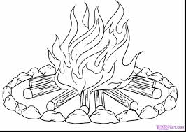 astonishing campfire coloring pages with fire coloring page