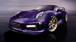 rauh welt porsche purple gemballa let 809 hp slide inside the porsche 911 turbo calls it