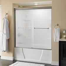 Bathtub Shower Ideas Pivot Chrome Bathtub Doors Shower Doors The Home Depot