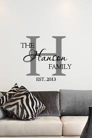 best 25 wall art decal ideas on pinterest custom vinyl wall custom family name monogram vinyl decal monogram vinyl wall art decal family name