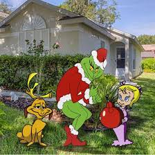 Christmas Decorations For Outside Ebay by 25 Best Grinch Christmas Lights Ideas On Pinterest Grinch