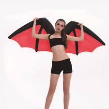 halloween dark angel wings inflatable costumes demon bat