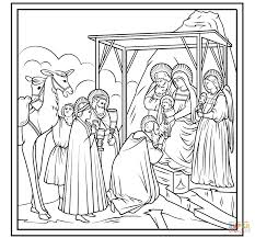 adoration of the magi by giotto coloring page free printable
