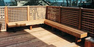 Build Deck Bench Seating Built In Benches Built In Benches Deck Bench Design Ideas Deck