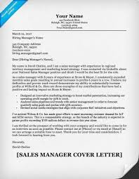 sales director cover letter