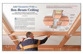 box beam add character with a box beam ceiling fine homebuilding