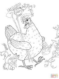little red hen coloring page free printable coloring pages
