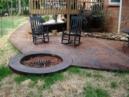 Corner Fire Pit by Fire Pit Inspired Best Concrete Patio Designs With Fire Pit