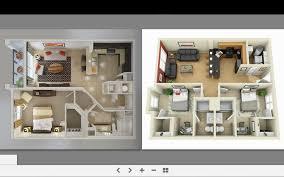 3d floor plan quality renderings modern 3 bedroom house plans