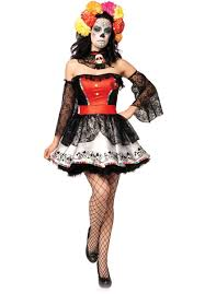 sugar skull beauty costume day of the dead leg avenue escapade uk