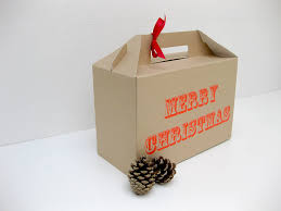 printed gift boxes screen printed merry christmas gift box by rolfe wills