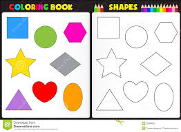 coloring book shapes stock vector image 39008652