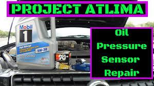 nissan altima engine oil pressure warning light project altima se r ep 12 oil pressure sensor replacement youtube