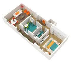 3d home interior design contemporary interior design 3d home project stock illustration
