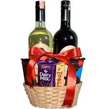 wine basket wine bottles with chocolates basket send gifts to nepal