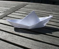 make a floating boat out of paper 4 steps
