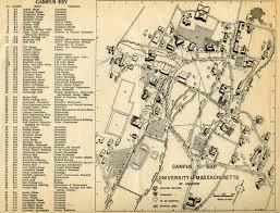 Amherst College Map Umass 1956 Youmass