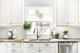 inexpensive white kitchen cabinets diy pressed tin kitchen backsplash bless u0027er house