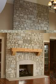 stack stone fireplaces home decor