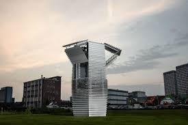 this tower purifies a million cubic feet of air an hour wired