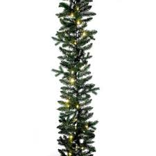 christmas garland with lights buy christmas garland with white lights from bed bath beyond