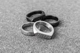 black silver rings images Hntr black rings are made for the modern hunter man of many jpg