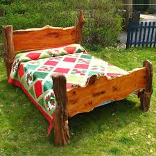 Oak Bed Driftwood Bed Frame Rustic Bed Yew And Oak Bed Frame