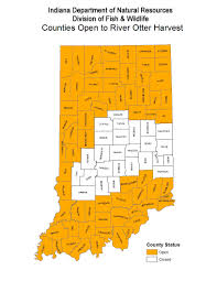 Indiana Counties Map Dnr Indiana River Otter Trapping