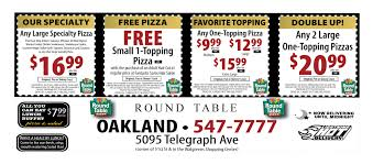 round table pizza menu coupons round table pizza