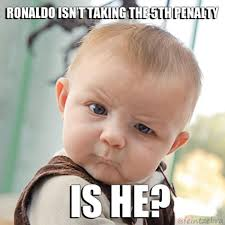 Diaper Meme - ronaldo takes the fifth penalty skeptical baby know your meme