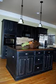 distressed painted kitchen cabinets paint kitchen cabinets black distressed build your own kitchen