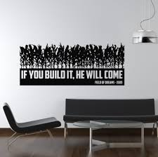 film tv movie quotes wall stickers iconwallstickers co uk if you build it they will come field of dreams tv movie wall sticker art