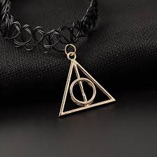 black tattoo necklace images Black tattoo choker w deathly hallows pendant back to realitee jpeg