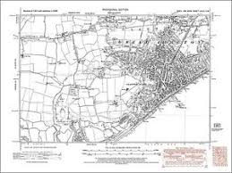clacton on sea map map clacton on sea great clacton essex 1938 49sw ebay