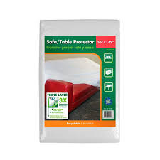 Plastic Sofa Covers For Moving 55 In W X 135 In L Sofa Or Table Protector 7007012 The Home Depot