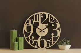 large numbers clock large wall clock rustic wall decor
