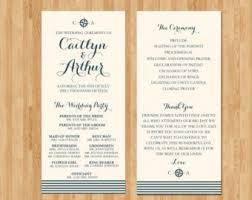 nautical wedding programs timeline wedding program wedding welcome bag insert