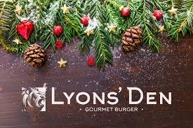 christmas lyons den gourmet burger