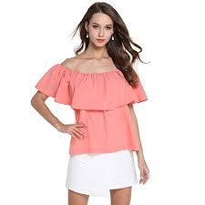 strapless blouse eovvio s strapless ruffles shoulder tops blouse at